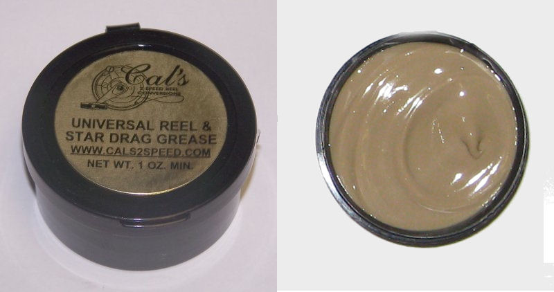 Cal's Universal Grease, Tan, for Larger Reels (1 Ounce)