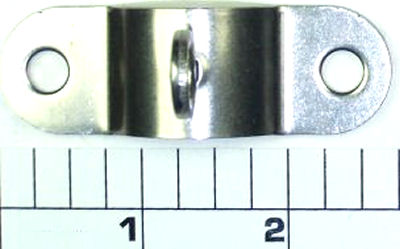 33R-114 Ringed Rod Clamp, Metal (Made in China, Brushed Stainless)