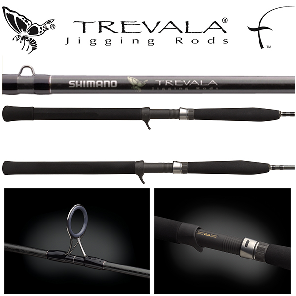 "TVC58XH 5'8"" 80-200lb 1pc Trevala Butterfly Jigging Conventional Rod"